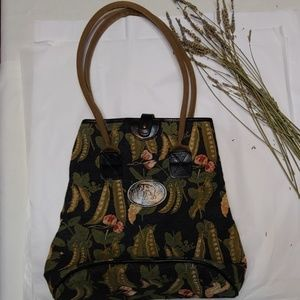 Liz Cox handcrafted tapestry bag